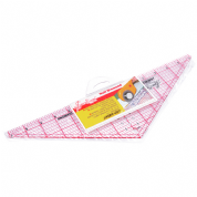 "Sew Easy Patchwork Ruler - Half Diamond - 14.5"" x 4.5"""